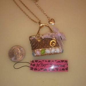 Betsey Johnson Easter Egg Purse Necklace